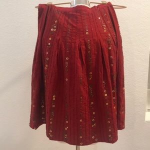 Pretty embellished red skirt